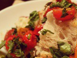 Leftovers, Remnants & Carb City Salad | Blistered Cherry Tomato & Herb Panzanella