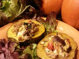 Turkey Sausage, Spinach & Mushroom Roasted Acorn Squash