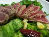 Valentine's Day Salads #1 | Pan Seared Tuna & Plum Salad