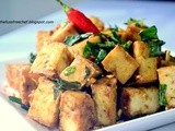 Pan Fried Tofu with Garlic, Salt and Herbs
