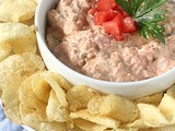 Bacon and Tomato Dip with Black Pepper Potato Chips