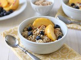 Breakfast Grain Salad with Almonds, Blueberries, and Peaches