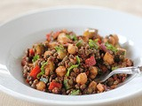 Chickpea and Lentil Salad with Sun-Dried Tomato Vinaigrette