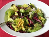 Christmas Salad with Red and Green Vinaigrette