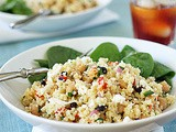Couscous and Garbanzo Bean Salad with a    Honey-Mustard Dressing