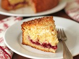Cranberry Vanilla Coconut Coffee Cake