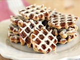 Oatmeal-Bacon Waffle Cookies with Espresso Glaze