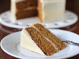 Pumpkin Cake with Orange-Cream Cheese Frosting