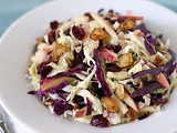 Red and Green Cabbage Salad with Apples and Candied Almonds