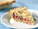 Rhubarb Custard Coconut Crumb Pie
