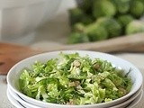 Shaved Brussels Sprout Slaw with Walnuts and Pecorino
