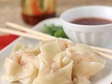 Shrimp and Ginger Dumplings with Sweet Chili Dipping Sauce