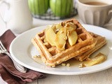 Spiced Apple Walnut Waffles