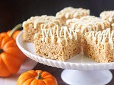 Spiced Pumpkin Rice Crispy Treats