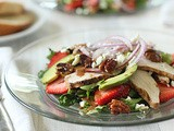 Strawberry Chicken Salad with Tomato-Balsamic Vinaigrette
