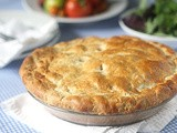 Tomato, Corn and Bacon Pie