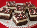 Triple Chocolate Peppermint Brownies