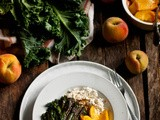 A Salad to Salivate [Grilled Kale Salad with Peaches and Ricotta]