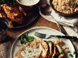 A Shift in Comfort [Chermoula Chicken with Toasted Almond Couscous & Coriander Yogurt]