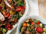 Clean Eating for the Over Indulger [Fattoush Salad with Grilled Za'atar Spiced Chicken]