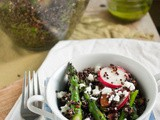 Conveniently Sloth-like [Red Quinoa Salad with Asparagus and Radishes]