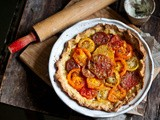 Farmers, Chefs & Markets [Heirloom Tomato Tart w Lemon Ricotta & Cornmeal/Thyme Crust]