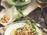Find Your Joy [Lemon-Yogurt Linguine w Arugula, Sugar Peas & Roasted Hazelnuts]