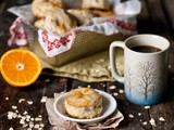 Mini Maple-Oat Scones with Orange Glaze [Milk Shop Blog]