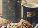 Not Settling for Sawdust [Coconut Red Quinoa Muffins with Sour Cherries and Pecans]