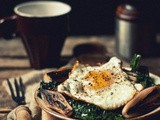 Ode to the Egg [Sauteed Purple Kale with Charred Shallots & Fried Egg]