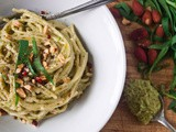 Pretend Hooky [Spaghetti with Roasted Asparagus and Tarragon Pesto]
