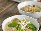 Putting the Excitement Back into Curry [Coconut Red Curry Pork with Thai Eggplant, Snap Peas & Enoki Mushrooms]