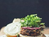 Saying Yes, Meaning No [Black Rice and Mushroom Burgers with Cucumber Garlic Yogurt]