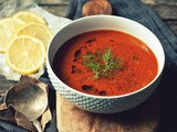 Speedy Meatless Monday [Caramelized Fennel, Roasted Garlic and Tomato Soup with Lemon]