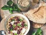 Taking Time [Baba Ghanoush Bowls with Pomegranate, Mint and Mozzarella]