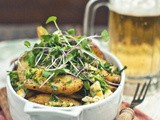 To Mayo or Not to Mayo [Roasted Onion & Fingerling Potato Salad with Chopped-Egg and Herb Dressing]