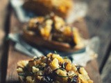 Vegetable Kaleidoscope [Caramelized Onion, Butternut Squash & Apple Toasts]