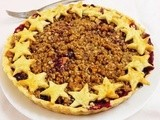 Berry Apple Crumble Pie