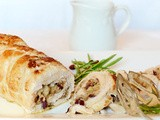 Turkey Breast with cranberries and brie