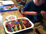 7 Year Old Twins Decorate Their Own Birthday Cakes with Grandma
