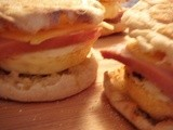Breakfast Muffin Sandwich Assembly Line, Make Them Now for the Weekend