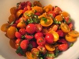 Cherry Tomato Salad with Garlic and Fresh Herbs, with Variations and Serving Suggestions
