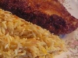 Chicken Cutlets and Rice Pilaf a Penny Pincher's Meal for Four