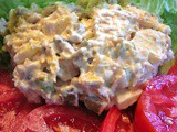 Freshly made Chicken Salad with Tomatoes from my Garden, what a great lunch plate