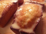 Glazed Orange Coconut Bread with Macadamia Nuts
