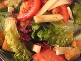 Hot Bacon Salad Dressing with Charlies' Salad from the old Lazarus Resturants