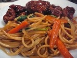 Lo Mein Noodles & General Tao's Chicken