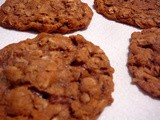 Oatmeal Cookies Chocked full of Walnuts, Raisins, Dates, and Spices