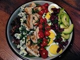 Our House  Cobb Salad and Vinaigrette with Fresh Chives