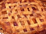 Peach Berry Pie with Sweet Cream